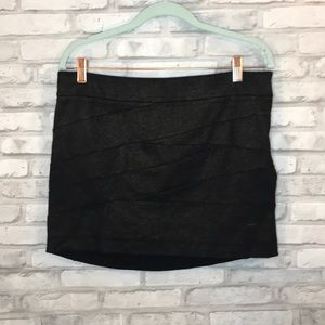 Express black sparkly mini skirt size 10